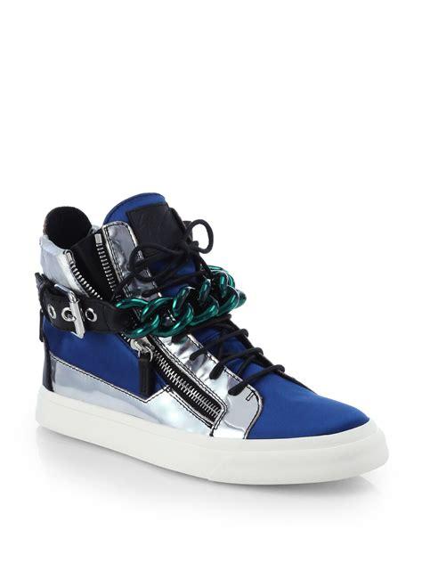 giuseppe zanotti blue sneakers giuseppe zanotti blue high top sneakers escambia county