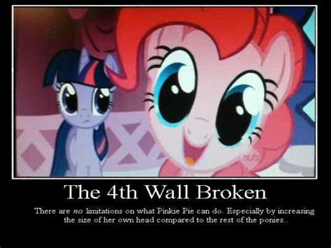 Fourth Wall pinkie pie and the fourth wall