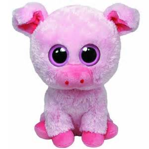 Toys and co product detail big corky pink pig beanie boo