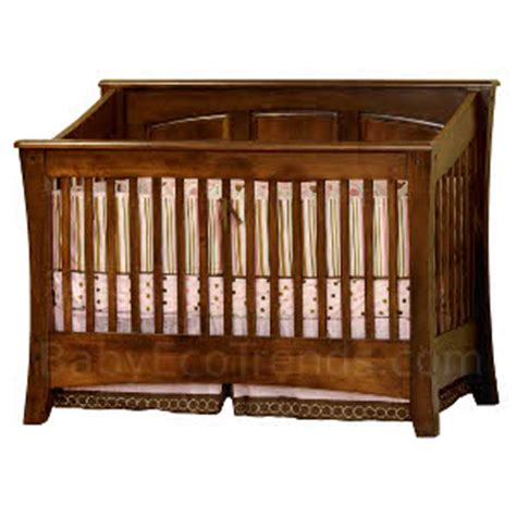 Amish Made Baby Cribs Cambria Panel 4 In 1 Convertible Baby Crib Made In Usa Baby Eco Trends