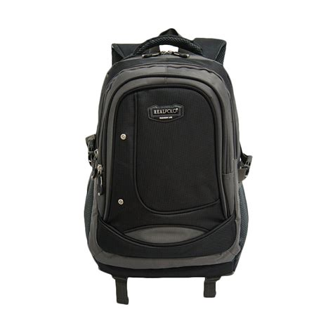Tas Ransel Real Polo Kasual Free Bag Cover 1 jual real polo kasual 6308 black tas ransel bag cover