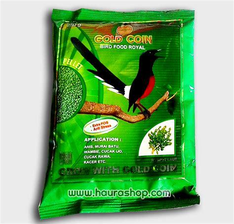 Pakan Burung Perkutut Gold Coin haura shop gold coin royal rp 5000