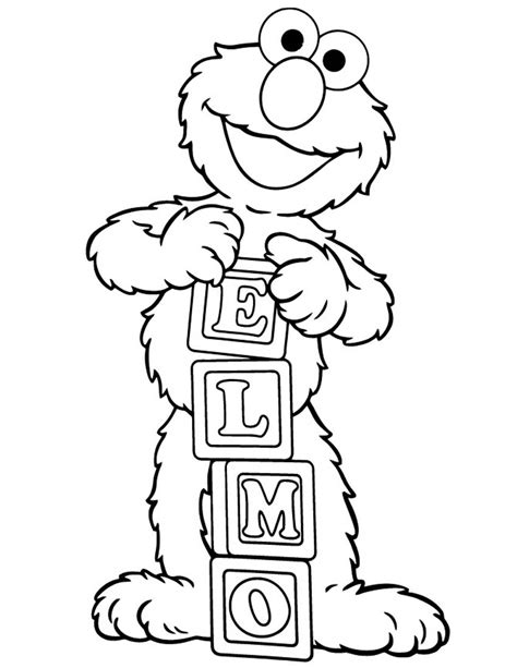 Printable Elmo Coloring Pages Coloring Me Elmo Coloring Pages