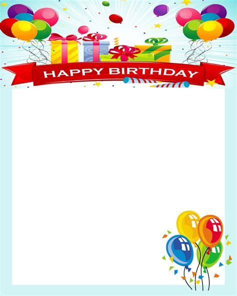happy birthday photo frame template happy birthday frames new calendar template site