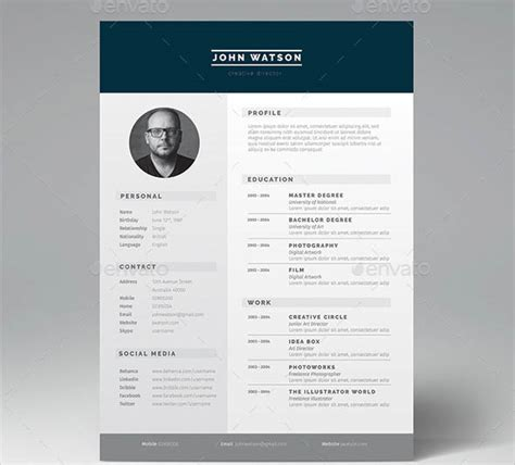 Job Resume Format Examples by 16 Great Resume Indesign Templates Desiznworld