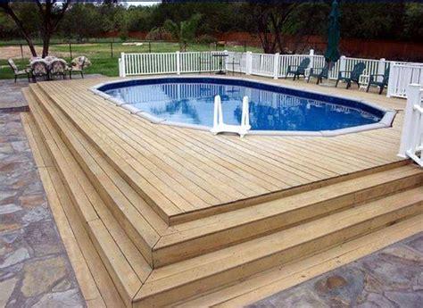 wooden pool decks above ground pool deck ideas wood pool design ideas