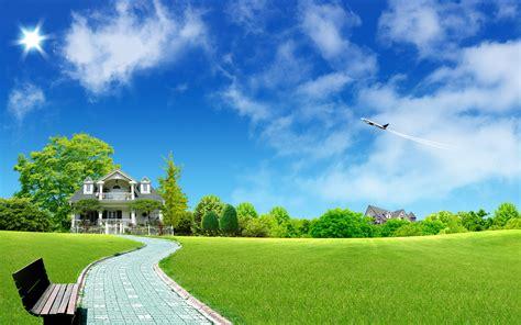Wallpaper Green House | nature wallpaper 661222