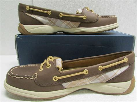 boat shoes international shipping sperry top sider womens sz 9 5m us laguna brown cognac