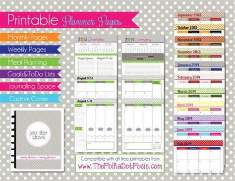 printable arc planner pages 2013 2014 printable planner pages academic year pdf