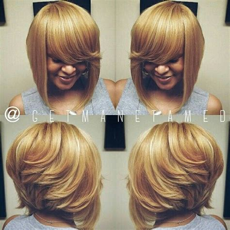 Layered Sew In Weave Hairstyles by Layered Bob Sew In Hairstyles For Black For Layered
