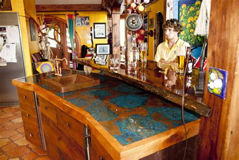 tiki bar top ideas azul copper tiki bar copper sheets blog