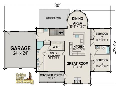 ranch floor plans log homes ranch style log home floor