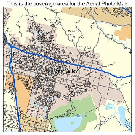 moreno valley california map aerial photography map of moreno valley ca california
