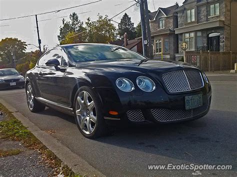 bentley canada bentley continental spotted in toronto canada on 10 07 2013