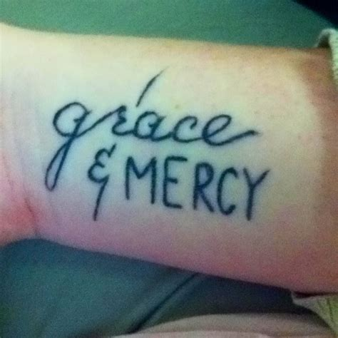 mercy tattoo grace and mercy tattoos