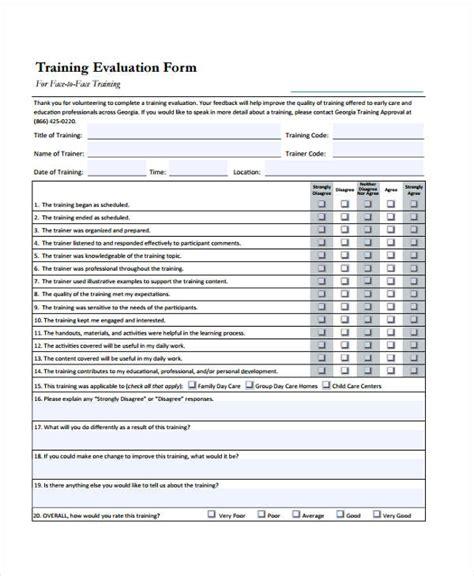 workshop evaluation forms gt gt 18 great professional
