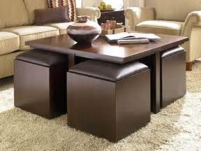coffee table with pull out ottomans pull out ottoman storage coffee table one day