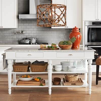 kitchen island with marble top larkspur marble top kitchen island williams sonoma