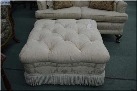 tufted ottoman with fringe button tufted upholstered ottoman with fringe decorations