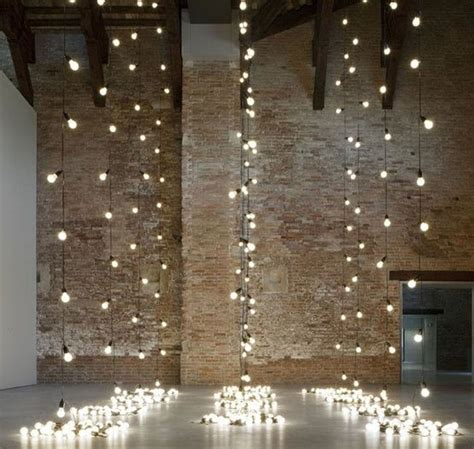 hanging light strands party ideas pinterest
