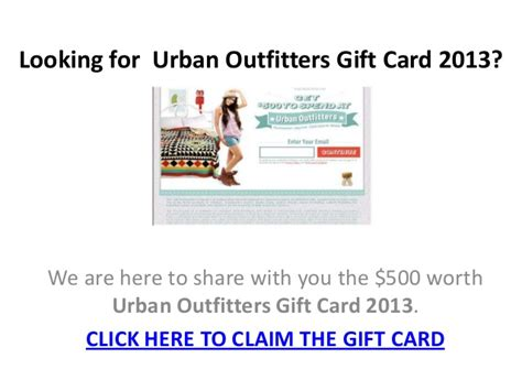 Urban Gift Card - urban outfitters gift card 2013