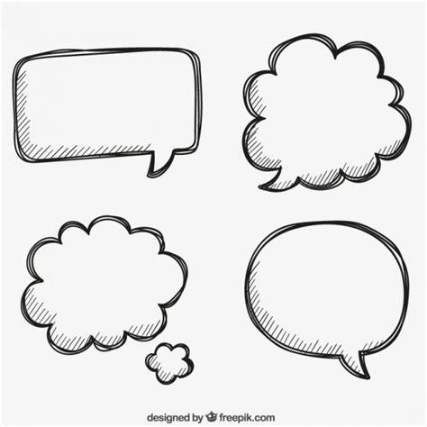 free doodle speech vector image gallery text
