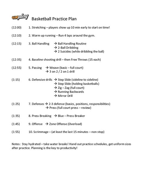basketball practice planner template basketball practice plan template playbestonlinegames