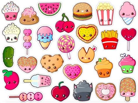 printable stickers cute pin by rainbowgirl 1053 on kawaii food pinterest food