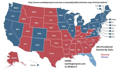us map governors maps post 2012 elections president by county and state