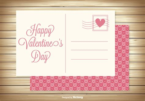 valentines day post s day post card free vector