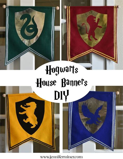 printable hogwarts house banners diy tutorial on creating simple hogwarts house banners for