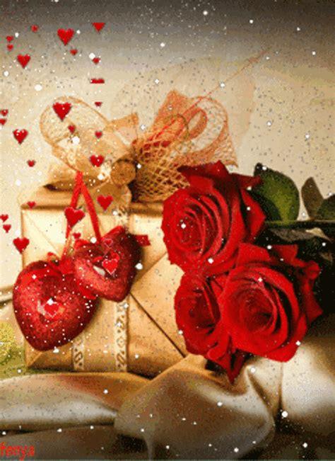 happy birthday friendship presents hearts  roses animated heart