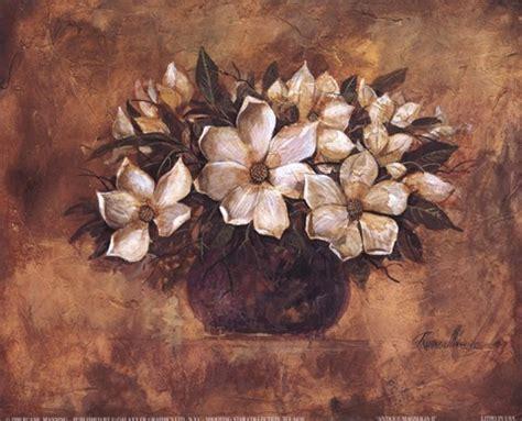 antique magnolia ii fine art print  ruane manning