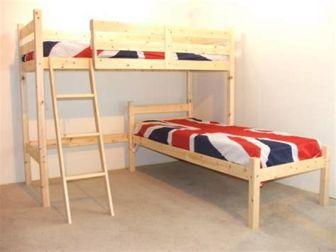 l shaped 3ft bunkbed wooden lshaped bunk bed for kids