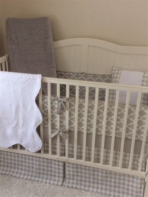 gender neutral crib bedding sets gender neutral crib bedding set light gray and white