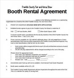 Salon Booth Rental Agreement Template by Booth Rental Agreement 8 Free Documents In Pdf