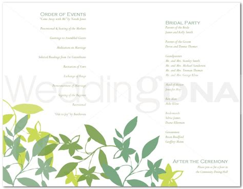 martha stewart wedding program template free program free wedding program templates