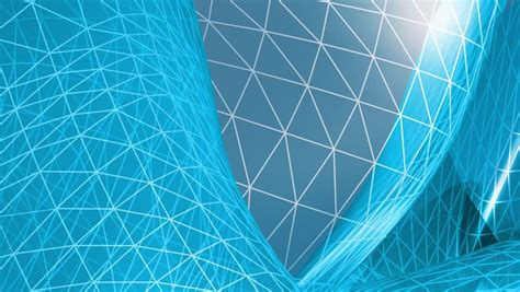 Engineering Background With Mba by 3d Looping Background Blue Polygonal Network High