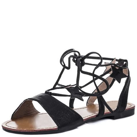 tie up sandals flat womens flat tie up leg metallic strappy lace up