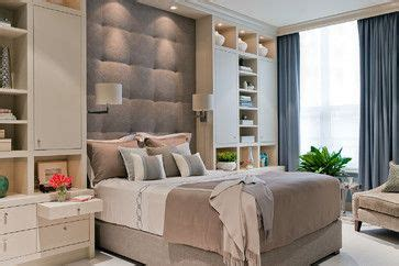 wall fixed headboards love this bedroom built in nightstand and wall shelves