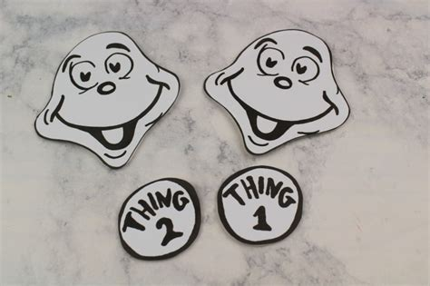 thing 1 and thing 2 card templates thing 1 thing 2 paper bag puppets frugal eh