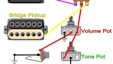guitar wiring diagram 1 humbucker 1 volume 1 tone