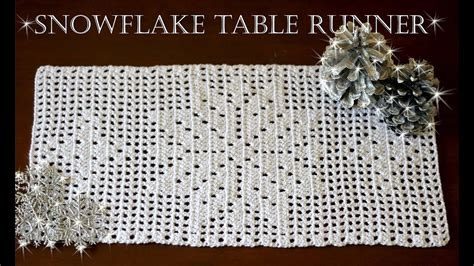 snowflake patterns youtube how to crochet snowflake table runner part 2 youtube