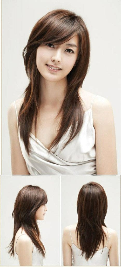 show side fring on long hair for older woman 20 fabulous long layered haircuts with bangs hair with