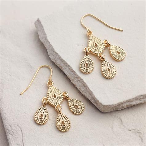 Small Chandelier Earrings Small Gold Chandelier Earrings World Market