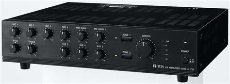 Rack Mount Audio Amplifier A 1712 Er Toa Corporation