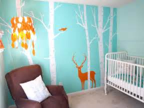 Nursery Room Wall Decor Real Room Aqua Woodsy Boy S Nursery 171 Buymodernbaby