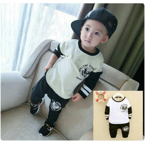 Kaos Cowok Bahan Spandek setelan baju celana anak laki laki model terbaru murah