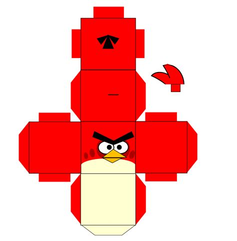 Angry Birds Paper Crafts Gadgetsin by Template Papercraft Angy Bird Paper Replica