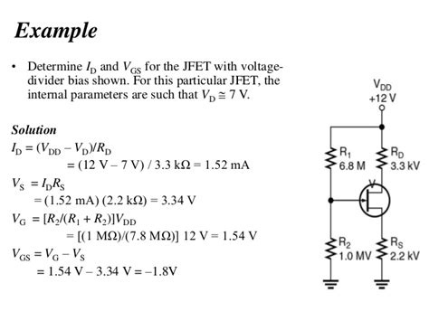 transistor lifier problems and solutions topic 5 field effect transistors